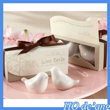 MHo-134 Wholesale wedding supplies Wedding Favor wedding gift white porcelain bird-shaped spice jar
