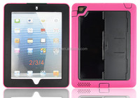 New arrival screenprotector Shockproof wholesale price hard case wonderful protective rugged silicone rubber Case For iPad 2 3 4