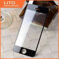 Silk printing gold color tempered glass screen protector for iphone 5s