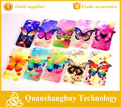 """2015 New Blu-ray Butterfly Soft TPU 3D Mobile Phone Cover for iPhone 6 plus 5.5"""" inch"""