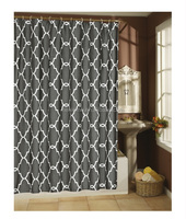 Luxurious designs 90g microfiber pigment print shower curtain