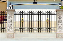 2015 new product aluminum fence for house design