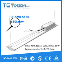 Microwave sensor dimmable 5feet led tri-proof linear lamp 80W parking lot light