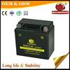 Cheap factory 12v 5ah 12v 4ah motor maintainance free motorcycle battery