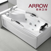 economical square massage bathtub