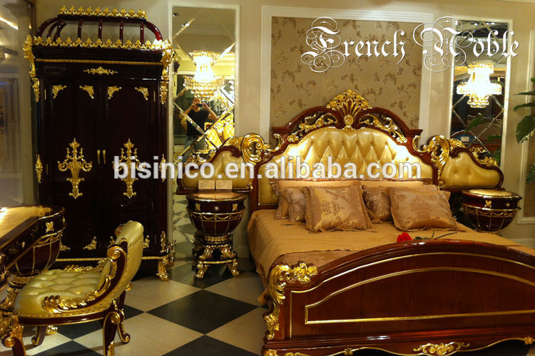Bisini noble collection luxury antique bedroom furniture set bf01 02043 buy royal furniture Fine home furniture bedding pty ltd