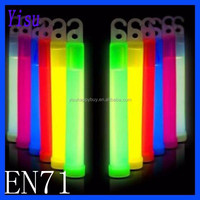 waterproof multi color hook EN71 ROHS CE chemical 6 inch glow stick with led liquid lighting in the dark 10 to 12 hours time