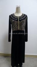 Hot new product for 2015 zipper velvet fabric latest dress designs