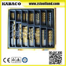 100 PCS Twist Drill Bits set With Titanium Coated MASONRY DRILL BITS WITH CHROMIUM PLATED