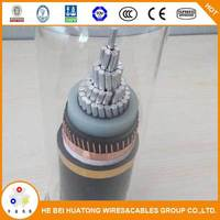 single or 3 cores XLPE Insulated armour or unarmoured 33kv cable