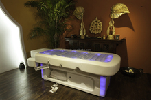 White electric facial beauty bed with cabinet (BY-B-972L-1)
