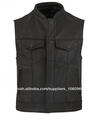SOA Leather Rebelde Biker Chalecos largo
