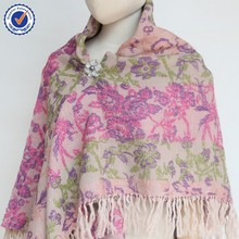 2015 Autumn winter wool flower big size shawl SWW820 ladies winter wool scarf and shawl wholesale