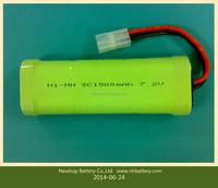 7.2v nimh rechargeable batteries 1500mah for emergency lights