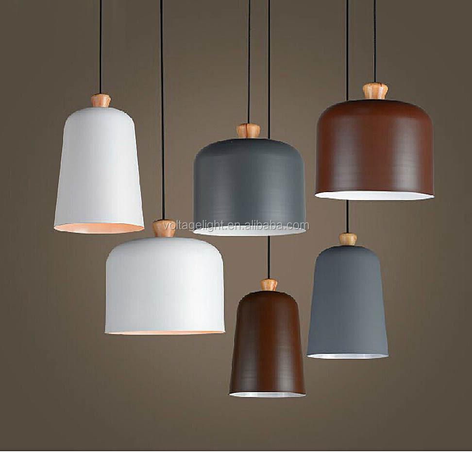 decorative hanging pendant light modern pedant light painting wood