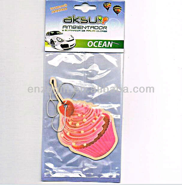 promotion car fresheners, scented paper card, air freshener car paper card