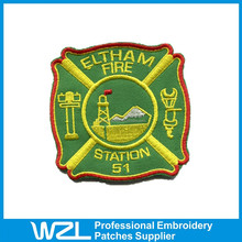 Cheapest custom souvenir embroid patch for clothing