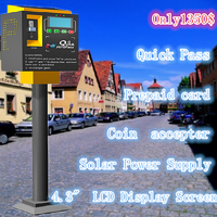 Elegant design lowest price solar parking meter coin payment machine used in street