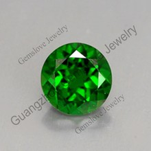 Guangzhou Natural Stone Bulk Wholesale Green Semiprecious Stones Dark Green Natural Chrome Diopside Pendant