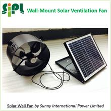 Good Selling in 2015! 14 inch 15 watt Solar Powered Wall Exhaust Fan