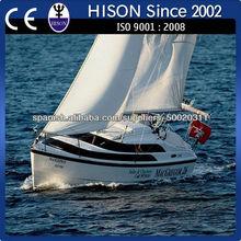hison fábrica de venta directa de la costera de alta velocidad de barco de vela Yate de motor 20KM / H