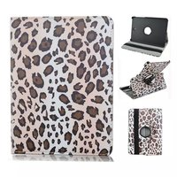 Leopard Leather Wallet Flip Rotate Stand Cover Case For Samsung Galaxy TAB T715 T815
