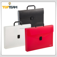 China supply office a4 clear pp plastic box file with handle,plastic document file holder,a4 document folder