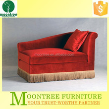 Moontree MSF-1117 antique red fabric chaise lounge sofa