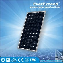 EverExceed Reliable Quality 156*156 Monocrystalline Solar Panel warranted for 5 years with TUV/VDE/CE/IEC certificates