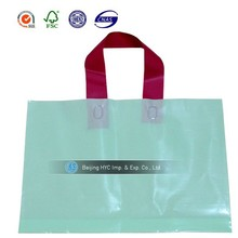Customed promotion durable environmental clear plastic bags with handles