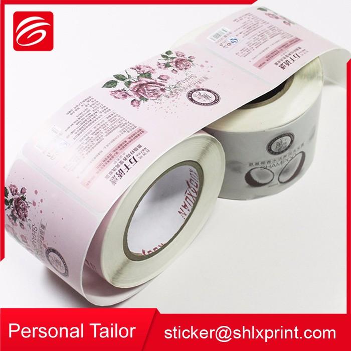 Costume Impresso Autoadesivo Etiquetas da Garrafa de Sabão Líquido