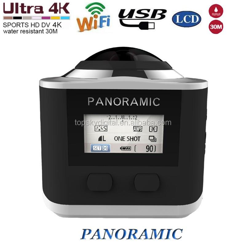 360 wifi видеокамер спорт действий камеры 4 К HD резолюции