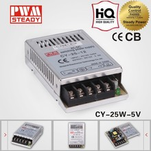 CY-25-5 CE approved 25w5v5a single ac dc regulated led power supply ultra-thin