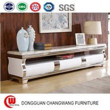 Custom marble TV cabinet modern minimalist TV wall unit large-sized apartment living room furnit as the film special tv cabinet