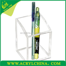 Wholesale - acylic pen cup oganic glass pen container plexiglass all-perpose container