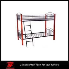 wholesale cheap home furniture modern kid double bed easy assembly whiter/black/pink/red metal double bunk bed