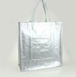 Shop Use Shiny Laminated Woven Tote Bag From Factory(PPWB-004)