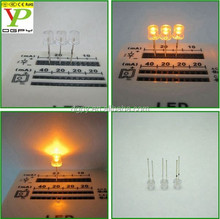 2015 HOT SALE Through hole Flat top 5mm Led diode YELLOW