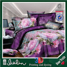 100% Polyester Fabric Lastest New Design home textile brand names flower design bed sheet