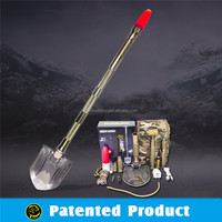 Folding Pick shovel axe hoe ,outdoor equipment use as expedition trekking poles and fishing tool
