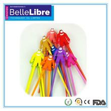 Hot sale animal shape silicone chopsticks for children