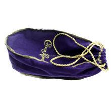 logo photo printable custom make velvet pouches gift bag