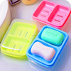 Stylish double case soap box,with cover,waterproof
