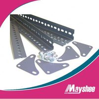 High Quality Powder Coated Steel Slotted Angle