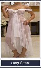 ladies elegant white mesh nightgowns