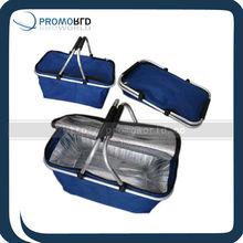 Basket cooler bag Folded cooler bag collapsible wine bottle cooler bag