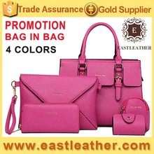E1086 HOT selling products 5pcs in 1 fashion womens tote bags