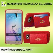 Luxury Holster Genuine Leather Mobile Phone Leather Case For Samsung Galaxy S6 Crocodile Stand Leather Mobile Phone Case