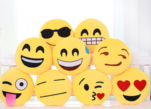 2015 latest Custom Made Plush Whatsapp Emoji Pillows for cut children