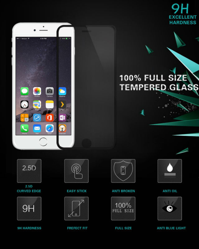 Prefect Fit Full Size 9H Anti-explosive Anti Blue Light Tempered glass screen protector for iPhone 6 & 6 Plus Mobile accessory